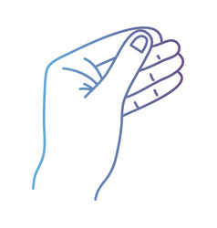 line person hand with finger and figures vector image