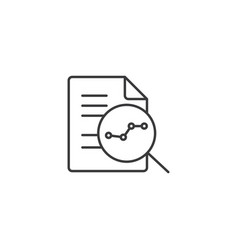 line research icon on white background vector image