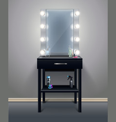 Makeup mirror realistic composition vector