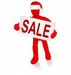 man with Christmas sale sign vector image