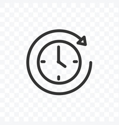 Outline clock or timer icon isolated vector
