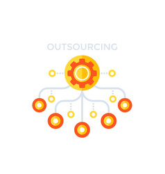 outsourcing production process vector image