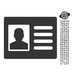 Patient account icon with work bonus vector