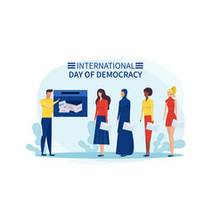 People vote on international day democracy vector