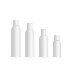 plastic cosmetic bottles 120ml 100ml 60ml 30ml vector image