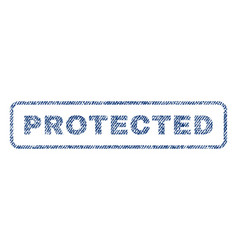 Protected textile stamp vector