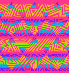 Psychedelic colors triangle seamless pattern vector