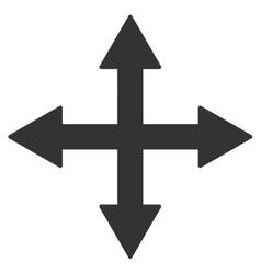 Quadro arrows icon vector
