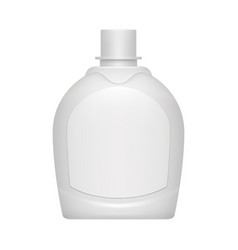 realistic bottle template for shampoo or cosmetics vector image