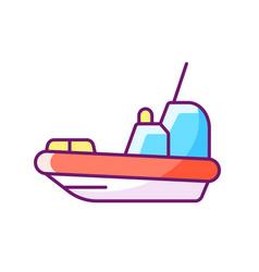 Rescue boat rgb color icon vector
