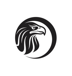 Round eagle head vector