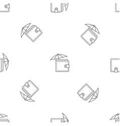 safe wallet pattern seamless vector image