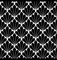 Seamless black fan scales repeating pattern vector