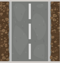 seamless pattern textured road and land with vector image