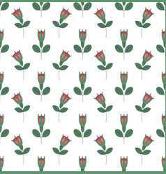 seamless pattern with roses on white background vector image