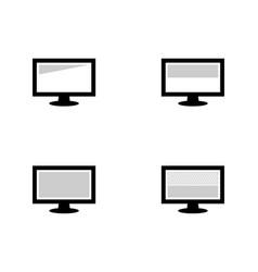 Set monitor and screen protector vector