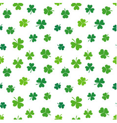 shamrock seamless colorful pattern or vector image