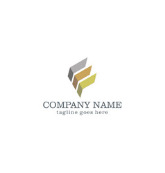 Shape abstract business company logo vector