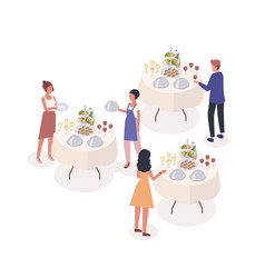 Social event isometric guests vector