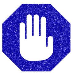 terminate icon grunge watermark vector image