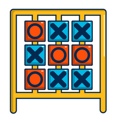 Tic tac toe game icon cartoon style vector