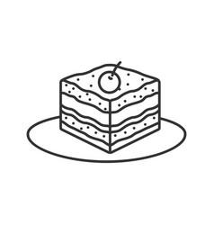 Tiramisu linear icon vector