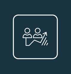 traffic growth icon line symbol premium quality vector image