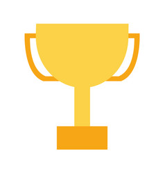 trophy award on white background vector image