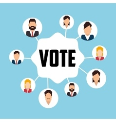 Vote and politician campaign vector image