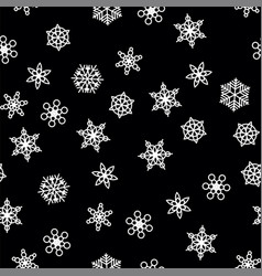 Winter pattern snowfall and white snowflakes on vector