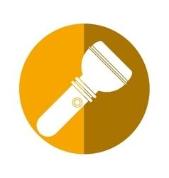 lantern flashlight portable tool camping button vector image