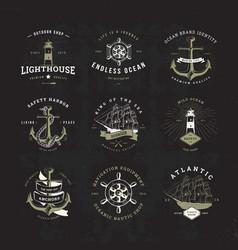 sail logo set invert vector image vector image
