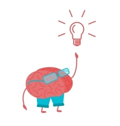 Brain Person vector image vector image