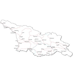 Georgia Black White Map vector image vector image