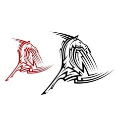 Tribal horse mascot vector image vector image