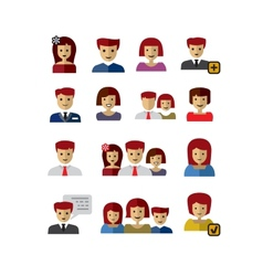 color people vector image vector image