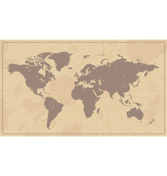 Old Vintage World Map vector image vector image