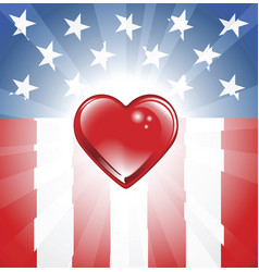 patriotic heart background vector image