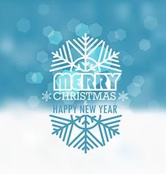 Christmas greeting card Snowfall on Winter vector image vector image