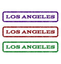 los angeles watermark stamp vector image