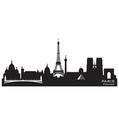 Paris France skyline Detailed silhouette vector image