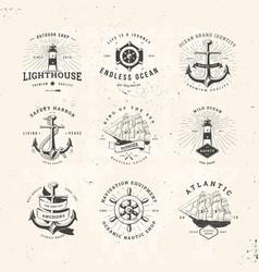 sail logo set vector image vector image