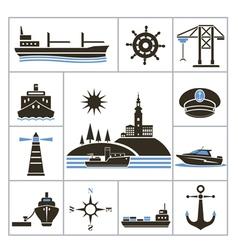 Ships vector image