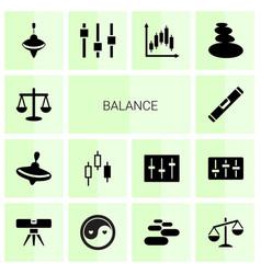 14 balance icons vector image