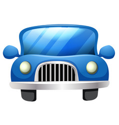 a simple car on white background vector image