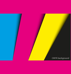 Abstract background sheets of paper in cmyk vector