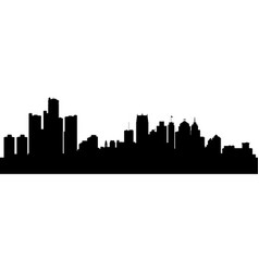 abstract city detroit michigan vector image