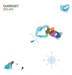 Abstract color map of Guernsey vector image