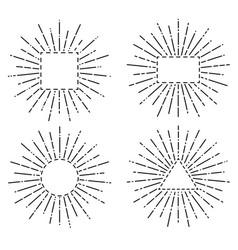 Abstract sunburst element vector