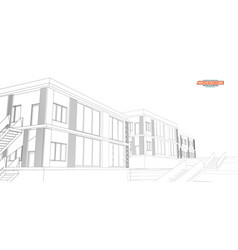 architecture great design for any purposes 3d vector image